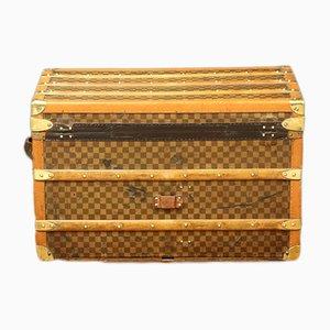 Französischer Koffer aus Buche, Messing & Leder von Moynat, 1922
