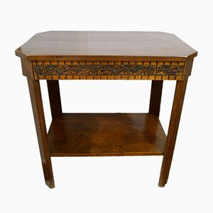 Vintage Art Deco Wooden Console Table, 1930s