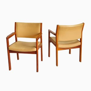 Danish Oak and Teak Armchairs by Kurt Østervig for FDB, 1970s, Set of 2