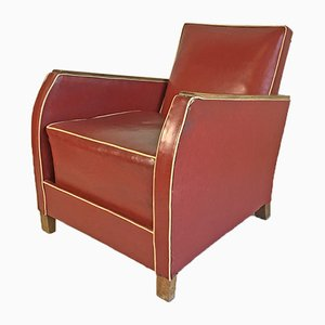 Mid-Century Leatherette Lounge Chair, 1950s