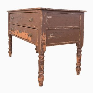 Antique Rustic Italian Fir Chest of Drawers