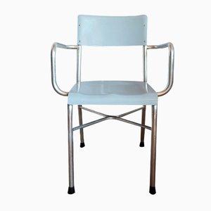 Chaise de Bureau Mid-Century en Aluminium et Formica, Italie, 1950s