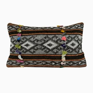 Large Handwoven Kilim Lumbar Pillow Cover from Vintage Pillow Store Contemporary