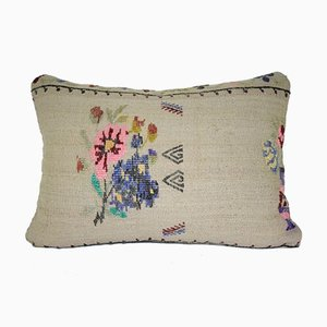 Needlepoint Tapestry Woven Kilim Pillow Cover from Vintage Pillow Store Contemporary