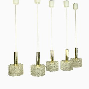 Mid-Century Brass Ceiling Lamps from Doria Leuchten, Set of 5