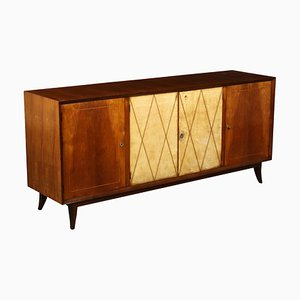 Art Deco Italian Buxus and Rosewood Cabinet, 1930s