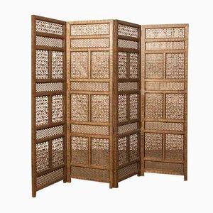 Antiker handgefertigter Raumteiler aus Messing, 1890er