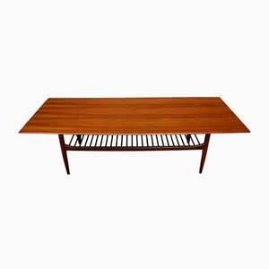 Scandinavian Modern Teak Coffee Table by Ib Kofod Larsen for G PLAN, 1960s
