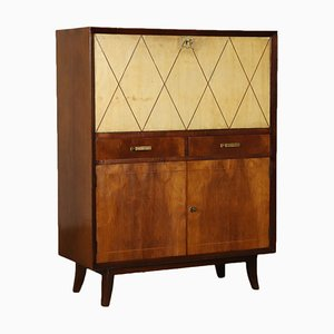 Art Deco Italian Buxus and Rosewood Bar Cabinet, 1930s