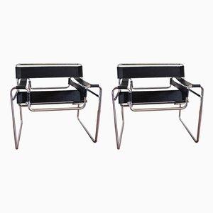 B3 Wassily Stühle von Marcel Breuer für Gavina, 1970er, 2er Set