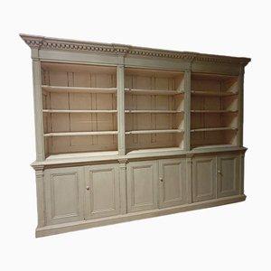 Armario de cocina o librería antiguo grande de pino