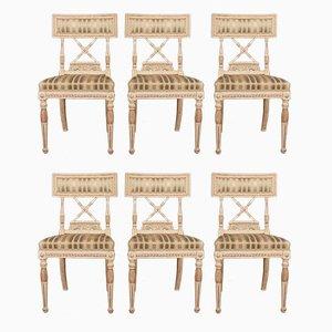 Antike Beistellstühle aus Holz, 6er Set