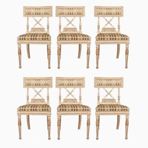 Antique Wooden Side Chairs, Set of 6