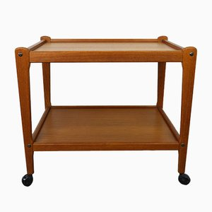 Scandinavian Modern Danish Plastic and Teak Trolley from BRDR. Furbo, 1960s