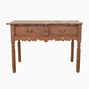 Antique Italian Fir Console Table