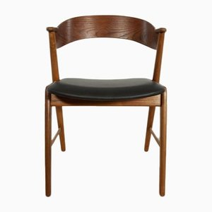 Chaise de Salle à Manger Modèle 32 Vintage en Teck par Kai Kristiansen pour Korup Stolefabrik