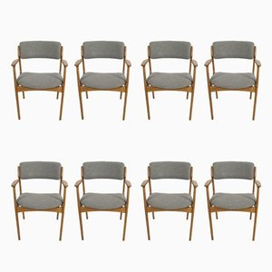Danish Model 49 Armchairs by Erik Buch for O.D. Møbler, 1960s, Set of 8
