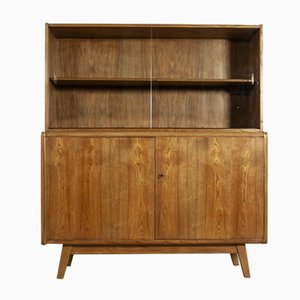 Ash Cabinet with Bookcase by Hubert Nepozitek & Bohumil Landsman for Jitona, 1960s