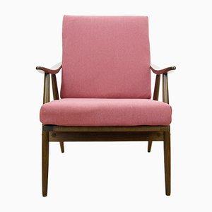 Butaca checa en rosado de TON, años 60