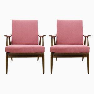 Pinker tschechischer Sessel von TON, 1960er, 2er Set