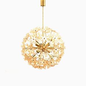 Large Brass Sputnik Dandelion Hanging Lamp, 1970s
