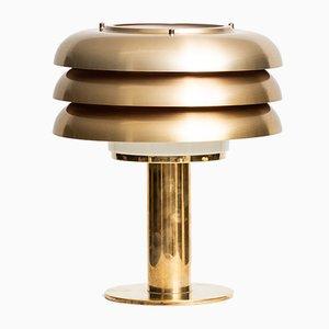 Lámpara de mesa de latón de Hans-Agne Jakobsson, años 50