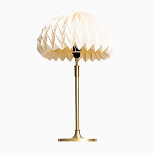 Model 307 Brass Table Lamps by Esben Klint for Le Klint, 1940s, Set of 2