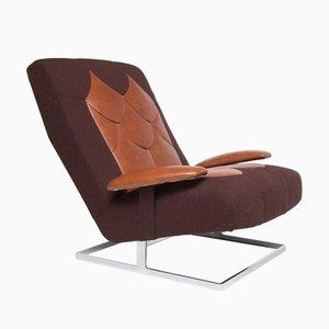 Leather & Chrome Armchair from Tetrad, 1970s
