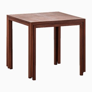 Danish Teak Nesting Tables by M. Ryder & Eskild Pontoppidan for ludvig pontoppidan, 1960s