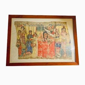 Tappeto antico in tela
