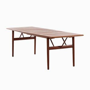 Danish Teak Dining Table by Povl Dinesen, 1950s