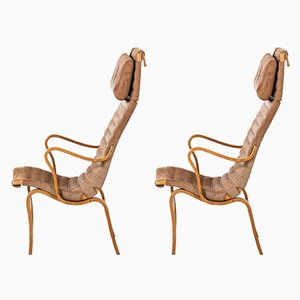 Mid-Century Eva Easy Chairs by Bruno Mathsson by Firma Karl Mathsson, 1968, Set of 2