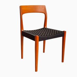 Silla de comedor de teca de Tom Pitt para Nathan Furniture, años 60