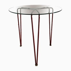 Mid-Century Glass and Metal Coffee Table, 1950s