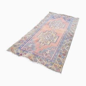 Handgeknüpfter türkischer Vintage Oushak Teppich, 1970er