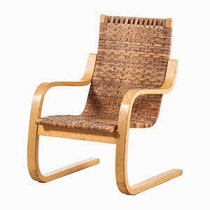 Model 406 Birch & Cane Cantilever Chair by Alvar Aalto for Artek, 1960s