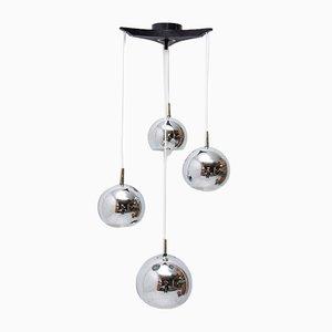 Modernist German Chrome-Plated Pendant Lamp, 1970s