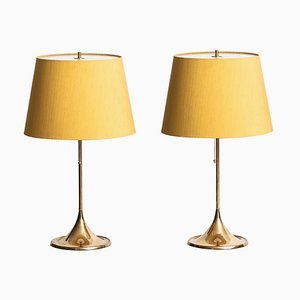 B-024 Table Lamps from Bergboms, Set of 2, 1950s
