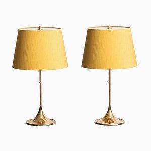 Lámparas de mesa B-024 de Bergboms. Juego de 2, años 50