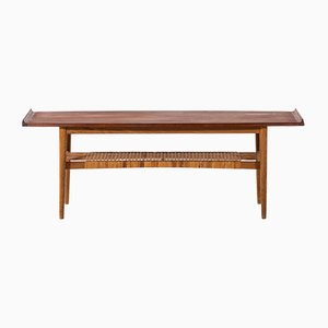 Mid-Century Danish Oak and Teak Coffee Table, 1950s