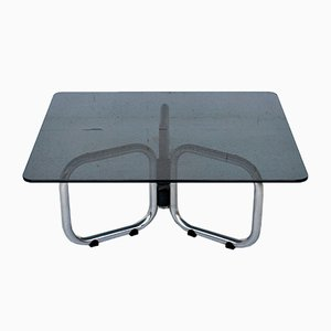 Chrome & Smoked Glass T2000 Coffee Tables by Gastone Rinaldi for Rima, 1970s, Set of 2
