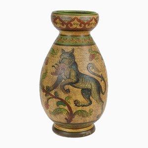 Handgefertigte italienische Terrakotta-Vase von Dante Milani Montopoli, 1930er