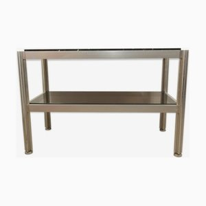Aluminium Console Table by George Ciancimino Crossbar for Mobilier International, 1970s