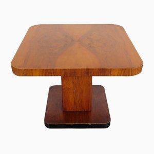 Tavolino da caffè Art Déco in vetro e legno di Thonet, anni '30