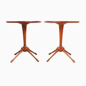 Tables d'Appoint en Acajou par Frits Henningsen, Danemark, 1940s, Set de 2