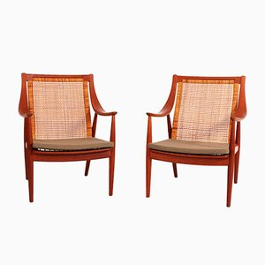 Lounge Chairs by Peter Hvidt & Orla Mølgaard-Nielsen for France & Søn, 1950s, Set of 2