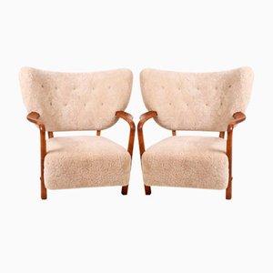 Dänische Vintage Sessel von Viggo Boesen, 1930er, 2er Set