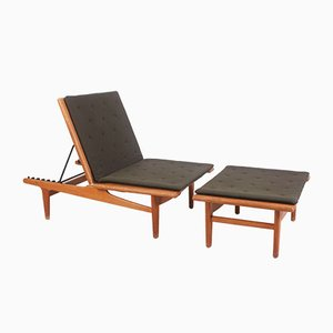 Model GE01 Oak and Wool Daybed by Hans J. Wegner for Getama, 1950s