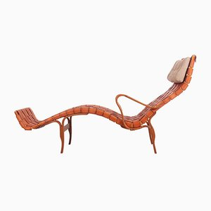 Chaise longue Pernilla di Bruno Mathsson per Firma Karl Mathsson, anni '60