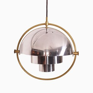Danish Brass Ceiling Lamps by Louis Weisdorf for Gubi, 1950s, Set of 2